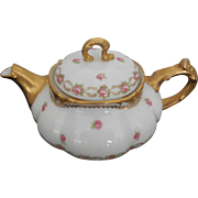 Limoges France J. Pouyat Porcelain Gold Trim Teapot for J.McD & S Co. Boston, Mass.