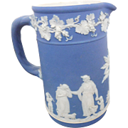 Wedgwood Blue Jasperware Trojan Cream Pitcher