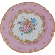 Limoges France Plate Pink Gold Trim Floral Bouquet 8 inches