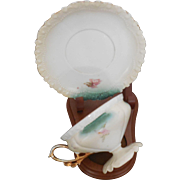 RS Prussia with Pedestal Cup and Saucer Floral Design