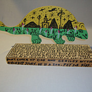 SALE Howard Finster Two-Headed Dinosaur (Lizard)