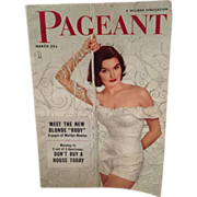 Pageant Magazine March 1952 with Marilyn Monroe Photo Section