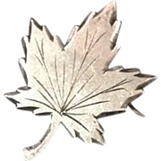 Sterling Maple Leaf Pin