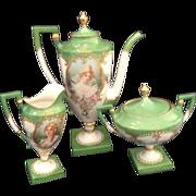 American Belleek / Ceramic Art. Co. Double Portrait Coffee Service