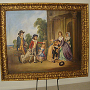 "SALE ""Homecoming"" (oil on canvas) ; by: M. Harrington; Signed: lower left"