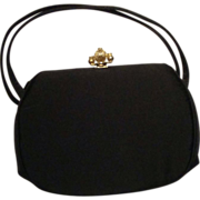 SALE Black Satin Evening Bag by Bobbie Jerome