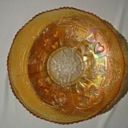 SALE Carnival Glass Bowl: Dragon & Strawberry by Fenton