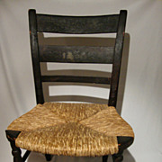 Childs Rush Bottom Stenciled Chair 1825-1840