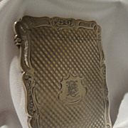REDUCED English Victorian Sterling Card Case