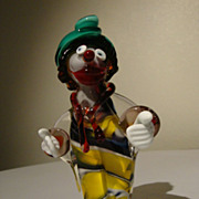 SALE Murano Glass Clown by ICET of Venezuela