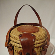 SALE Rare Peck & Peck Nantucket Style Basket Purse, 1950's