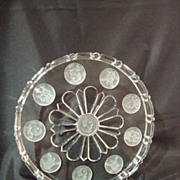 Frosted Columbian Coin Water Tray