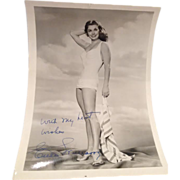 """SOLD Esther Williams Autographed Pin-Up (7"""" x 5 1/8"""")"""