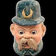 Palmer Cox Brownie Keystone Cop Majolica Humidor