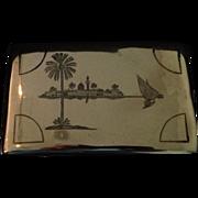 Flapper Era Niello Silver Cigarette Case