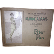 Maude Adams in Peter Pan 1907 Playbill