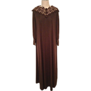 1970s Lilli Diamond Designer Maxi Dress Unworn