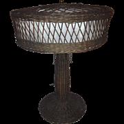 Natural Wicker Table Lamp; CIRCA 1915