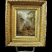Britton's Mill, Staten, (N.Y.) Oil on Board by William Rickarby Miller
