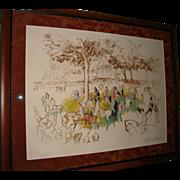 SALE PENDING LeRoy Neiman Artist Proof -- Ascot Paddock