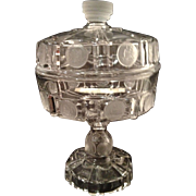"""U.S. Frosted Coin Covered 7"""" Pedestal Compote"""