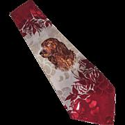 Deco Hand Painted Men's Neck Tie Dog Cocker Spaniel