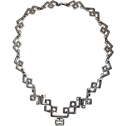 Los Castillo Sterling Silver Necklace Taxco Mex 773 c1955-1970