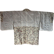 k031 Vintage silk Japanese haori. 1950 Lined in silk size small