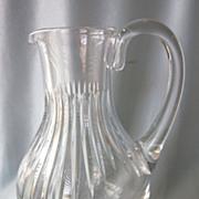 "SALE Vintage Baccarat Messena 9-1/2"" Crystal Water Pitcher"