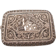 SALE Exquisite Silver Filigree Box, Card Case, 76.9 Grams!