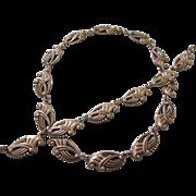 SALE Vintage Sterling Danecraft Necklace and Bracelet Set