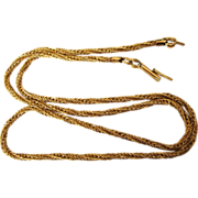 """SALE Vintage 14K Yellow Gold Italian Twisted Wheat 19"""" Chain, 9.2 Grams"""