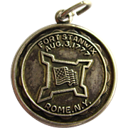 SALE Vintage Bruce Sterling Fort Stanwix Rome N.Y. Charm, Aug. 3, 1777