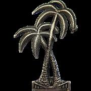SALE Vintage Sterling Silver Palm Trees Brooch