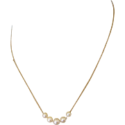 """Sweet 14K Gold and Cultured Pearl 15"""" Necklace"""