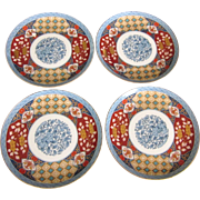 Set of Four Smithsonian Imari Ware 8-1/2 Plates, Retired