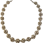 SALE Stunning Vintage Large Rhinestone Ball Bead Choker Necklace - Dazzling!