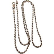 """Sophisticated Italian Sterling Oxidized 18"""" Chain Necklace"""