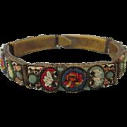 SALE Vintage Italian Micro Mosaic Floral Bracelet