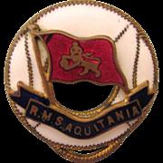 Scarce 1920's-30's R.M.S. Aquitania Enamel and Brass Pin, Scottish Flag