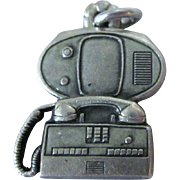 Vintage Sterling Bell Tel Co  Video Speaker Phone Charm