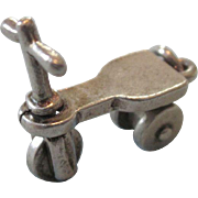 Vintage Sterling Silver Mechanical 3-D Scooter Charm