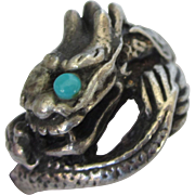 Vintage Sterling Silver Chinese Design Dragon Ring, Size 7-1/2