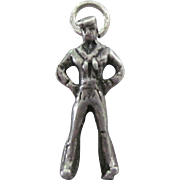 Vintage WW II Sterling Silver Sailor 3-D Charm