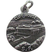 Vintage Sterling Cliff House, San Francisco Charm Pendant, Beautifully Detailed