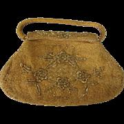 Scarce Large 1950's Intricate Gold Beaded Evening Handbag Marked Kishu Hong Kong, Mid-20th ...