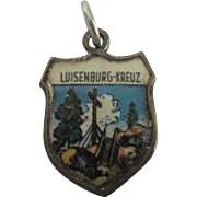 Vintage Luisenberg-Kreuz Enamel Travel Charm