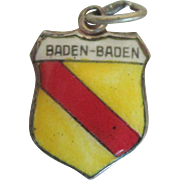 Vintage Baden-Baden Enamel 800 Travel Charm