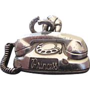 Vintage Sterling Bell Telephone Princess Telephone Charm