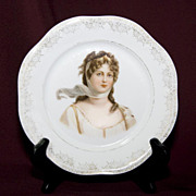 SALE Bavarian Porcelain Plate - Queen Louise of Prussia